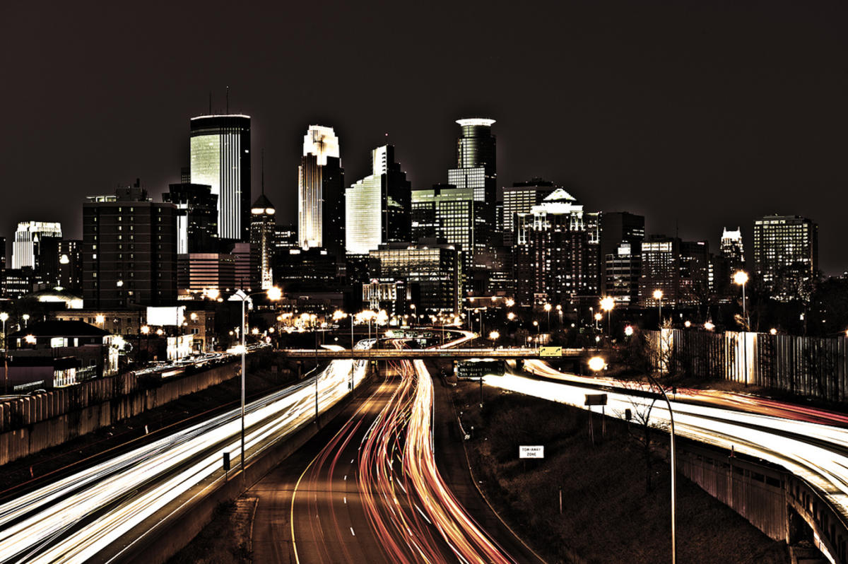 """Minneapolis Skyline - HDR"" by Dustin Gaffke via Flickr Creative Commons"