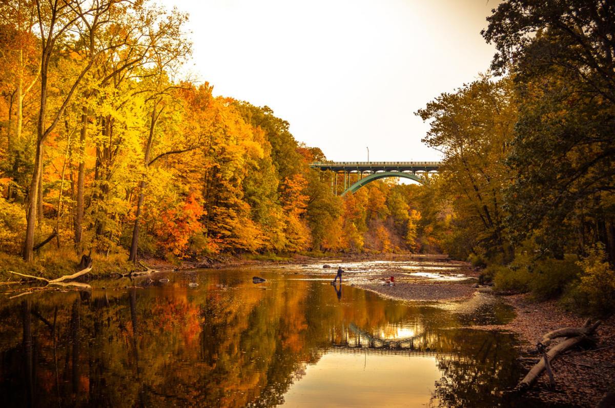 """Lorain Road Bridge over the Rocky River"" by Jen Goellnitz via Flickr Creative Commons"