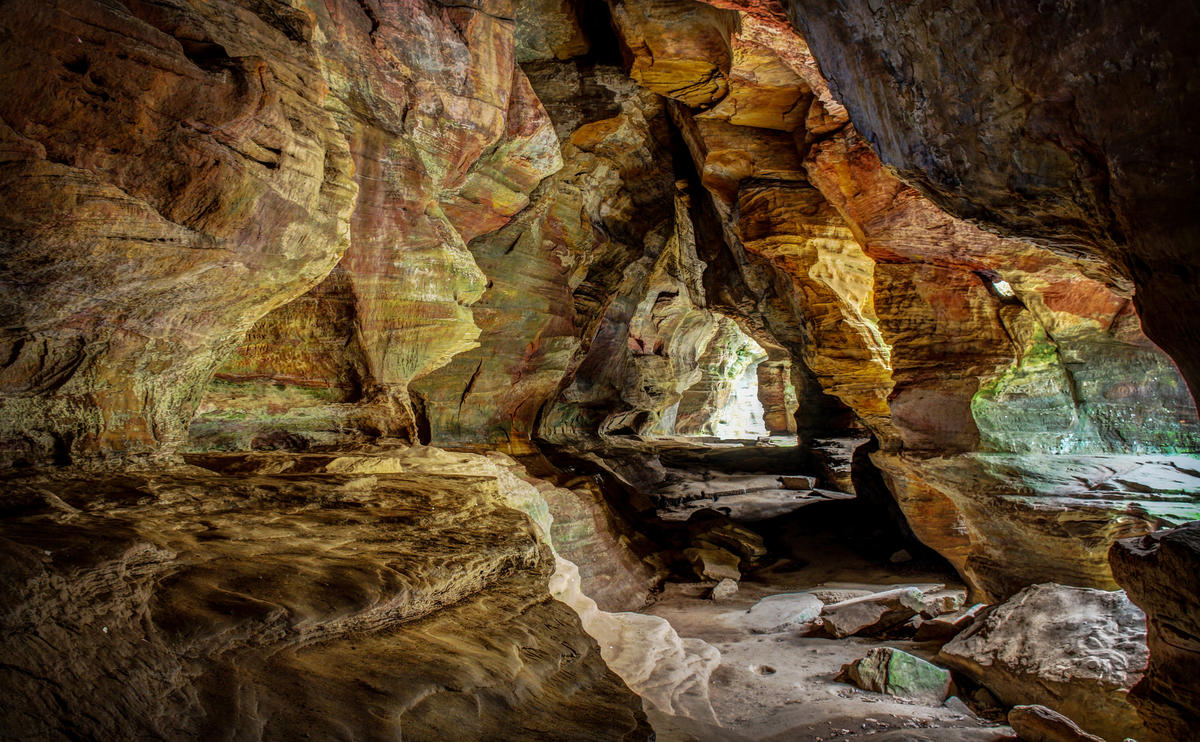 """""""Rock House, Hocking Hills, Ohio"""" by Morgan Paul via Flickr Creative Commons"""