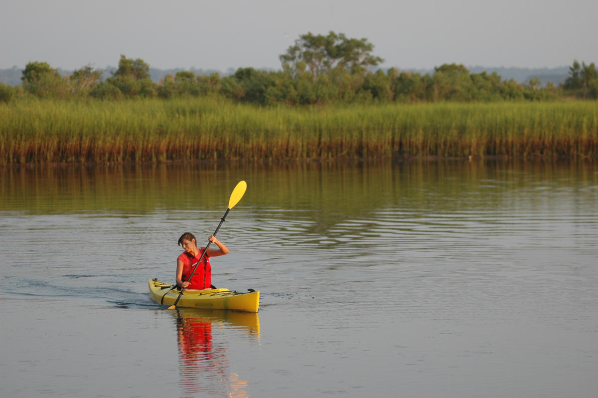 Kayaking near Carolina Beach State Park by Wilmington and Beaches Convention & Visitors Bureau