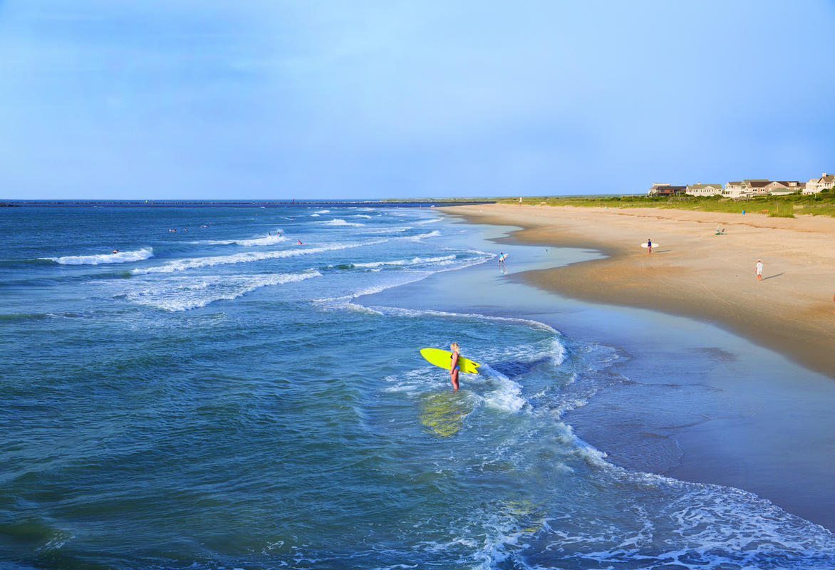 Wrightsville Beach Surfing by Wilmington and Beaches Convention & Visitors Bureau
