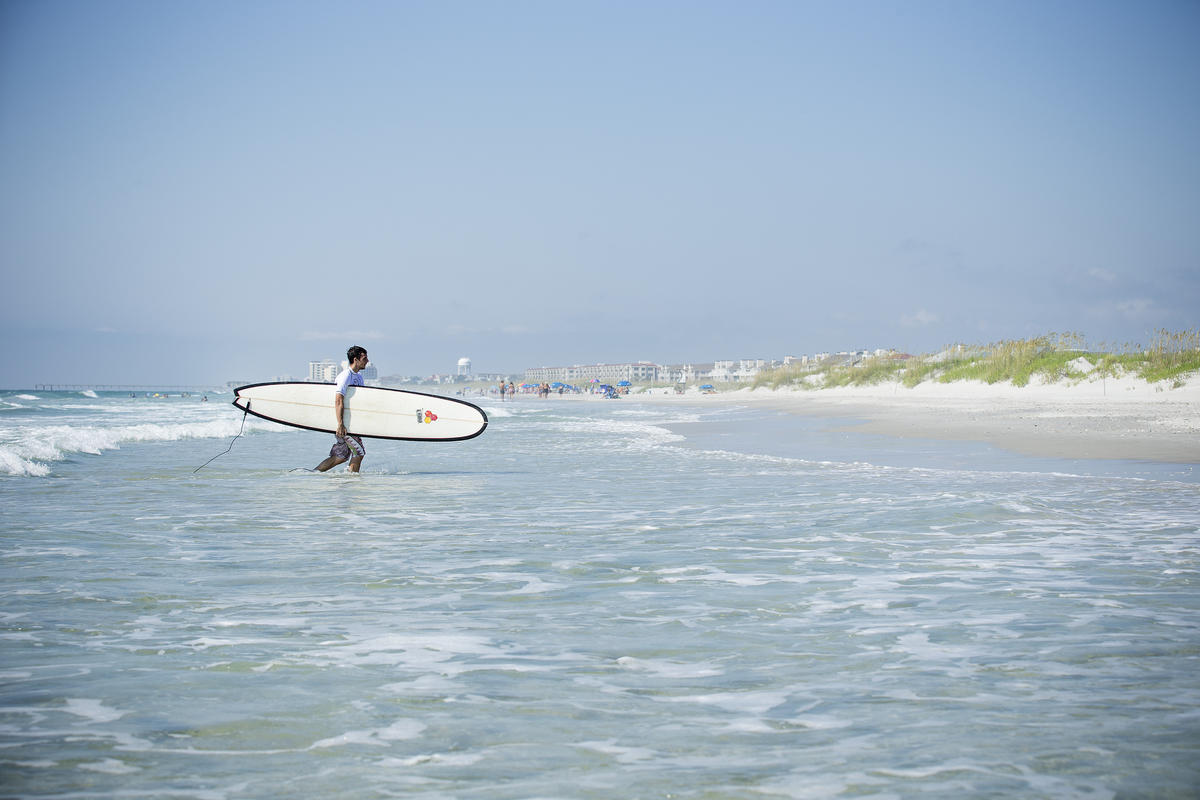 Wrightsville Surfing Photo by Wilmington and Beaches Convention & Visitors Bureau