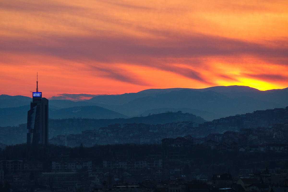 """Early Spring Sunset over Sarajevo"" by Iain Hinchliffe via Flickr Creative Commons"