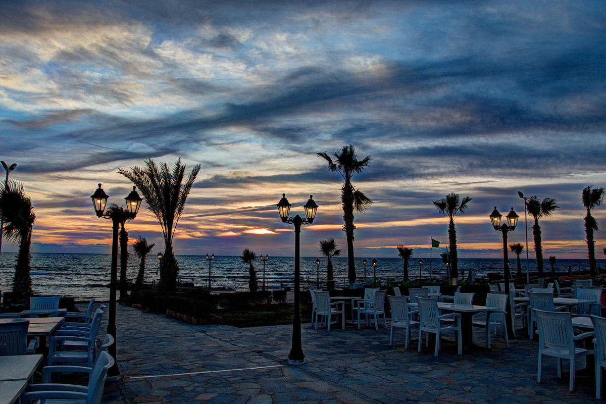 Evening Sky at Pafos Beachfront Photo by shipley43 via Flickr Creative Commons