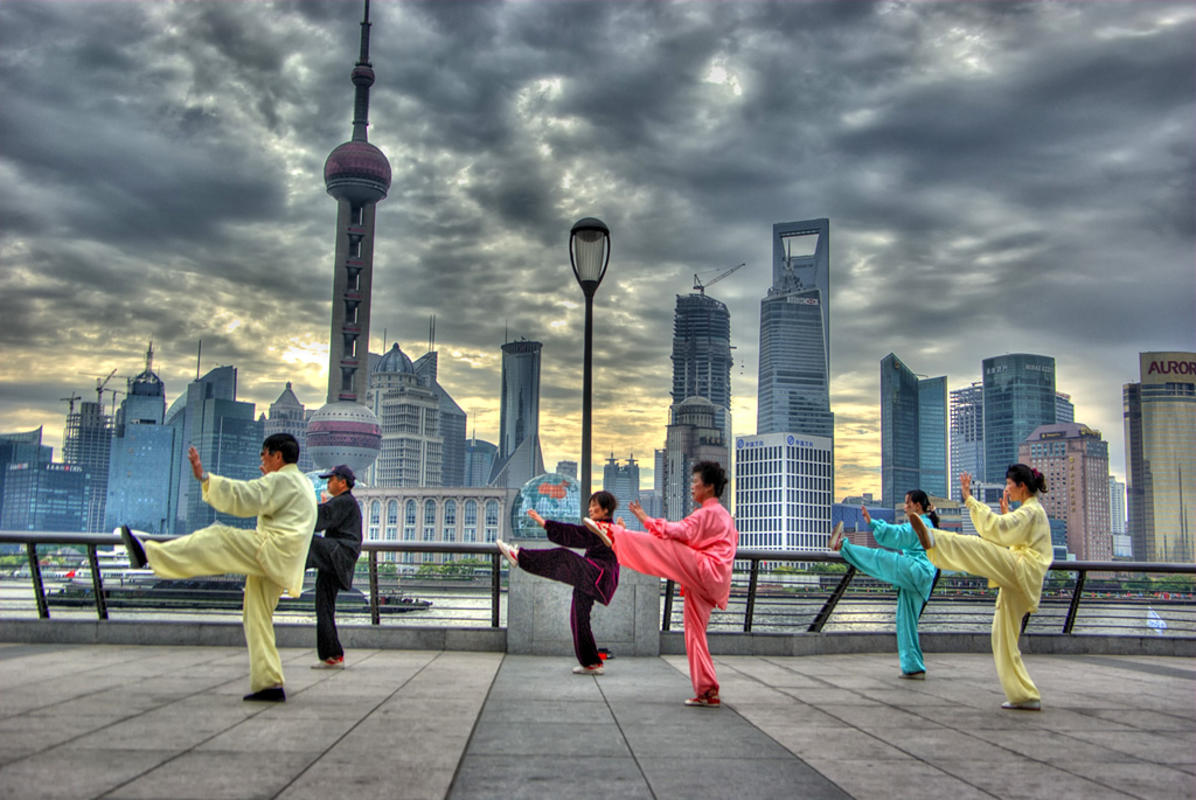 In front of pudong Skyline Photo by leniners via Flickr Creative Commons