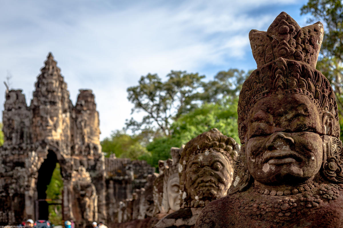 South Gate of Angkor Thom Photo by WIL via Flickr Creative Commons