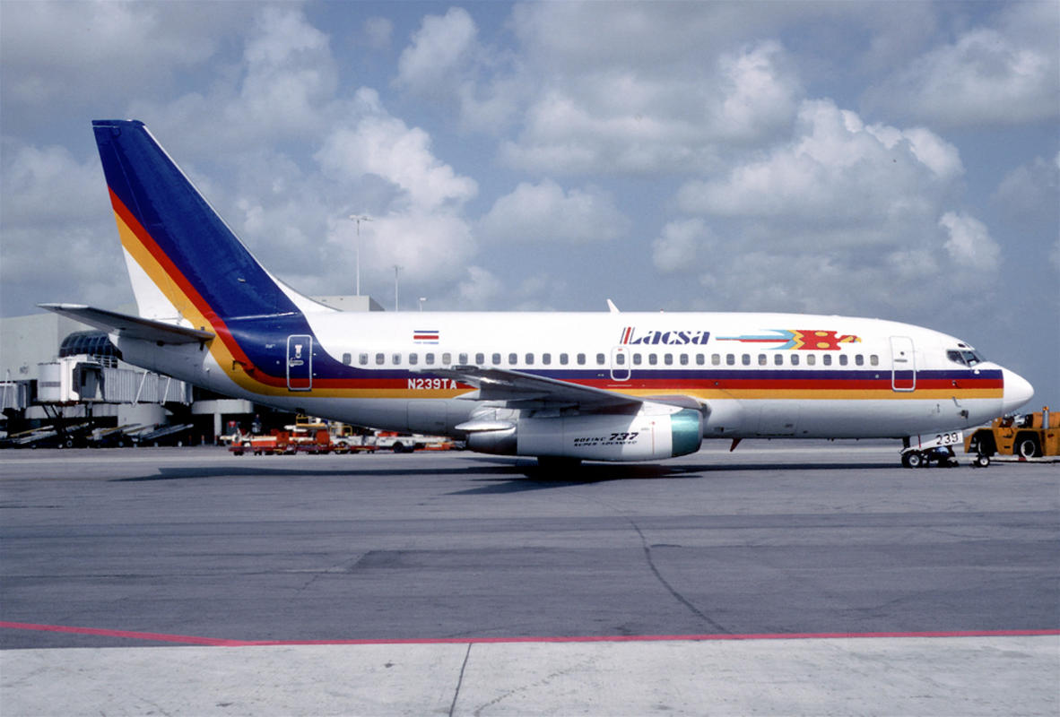 LACSA Costa Rica Boeing 737-25A; N239TA, August 1995/ AFG Photo by Aero Icarus via Flickr Creative Commons
