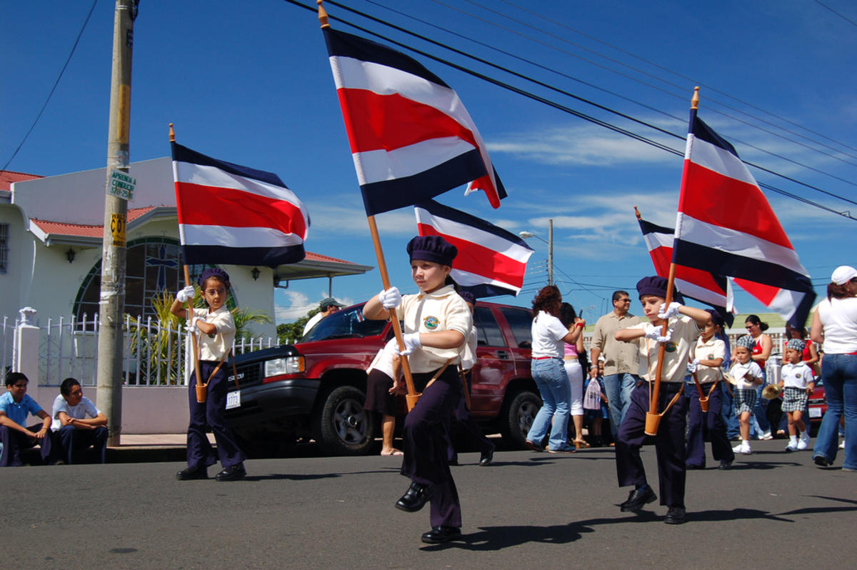Independence Day in Costa Rica - Flag March 1 Photo by Bruce Thomson via Flickr Creative Commons