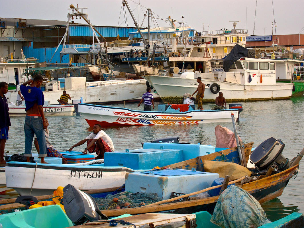 Barques de pêche au port de Djibouti Photo by Olivier ROUX via Flickr Creative Commons