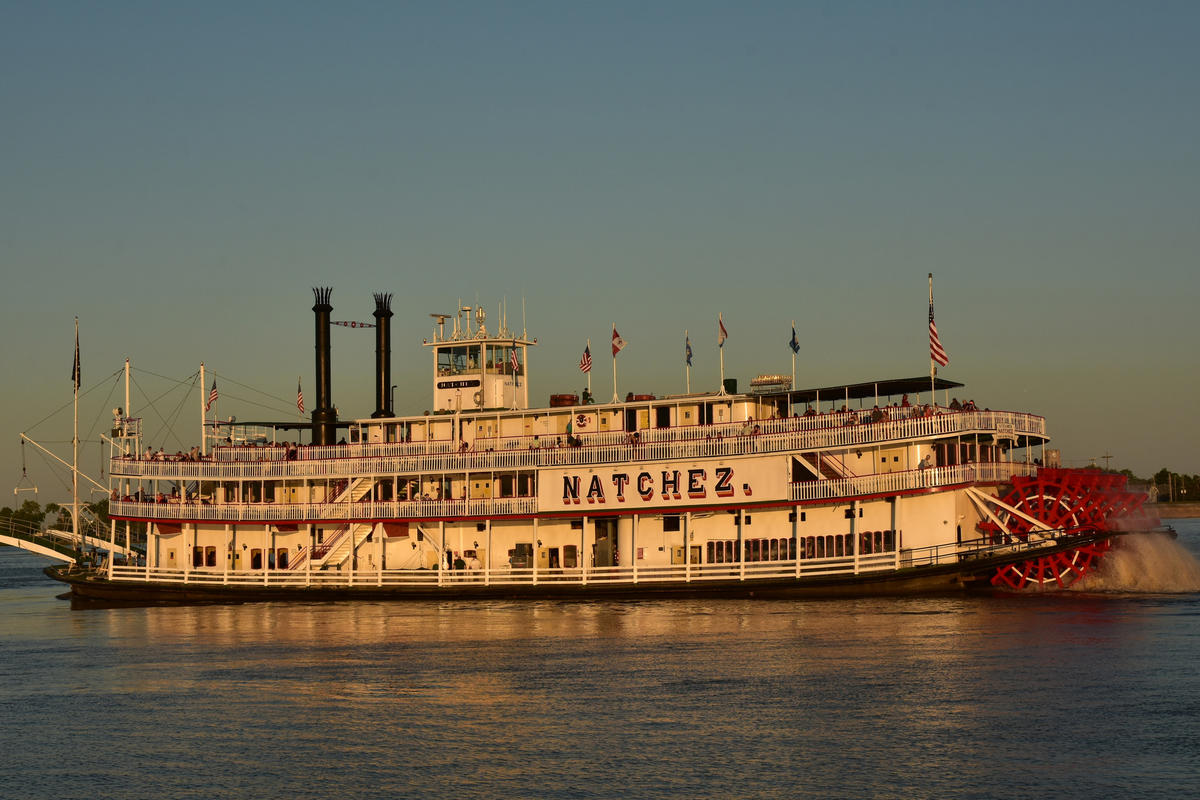 Natchez Paddlewheel Steamboat at Sunset 2 Photo by Amaury Laporte via Flickr Creative Commons