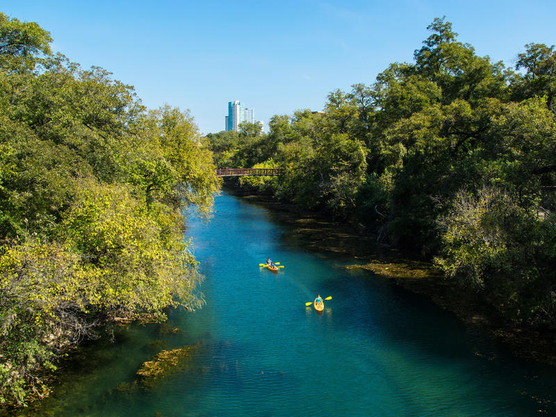 Kayaking on lady bird lake in austin