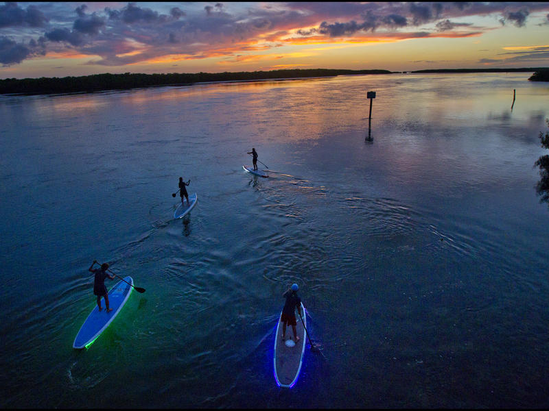 Illuminated paddleboarding  key largo %28patrick farrell%29