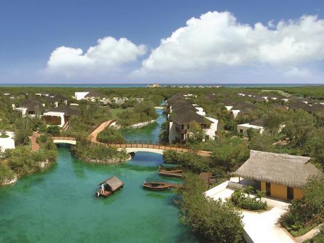 Riviera maya aerial view