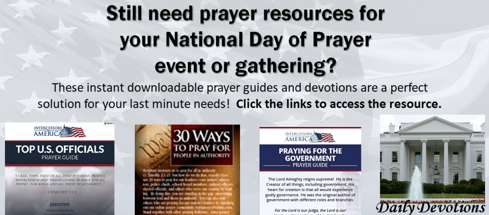 National Day of Prayer--prayer points and resources