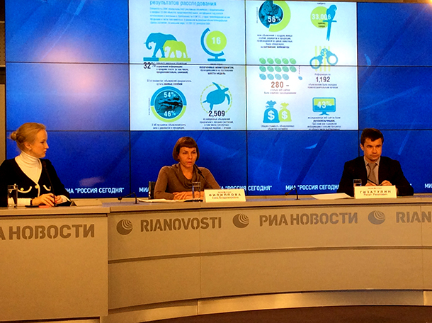 Wildlife trade report presented jointly with the Russian Federation Enviornment