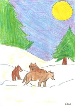 Gewinner des letzten Malwettbewerbs wurde Aine aus der Klasse 5b mit diesem tollen Bild.