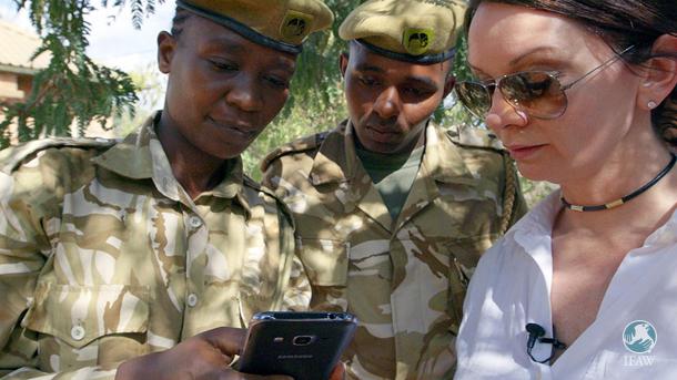 IFAW's Senior VP, Lt Faye Cuevas on the ground in Kenya