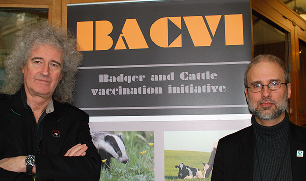 Dr. Brian May with the author, Jordi Casamitjana, right.