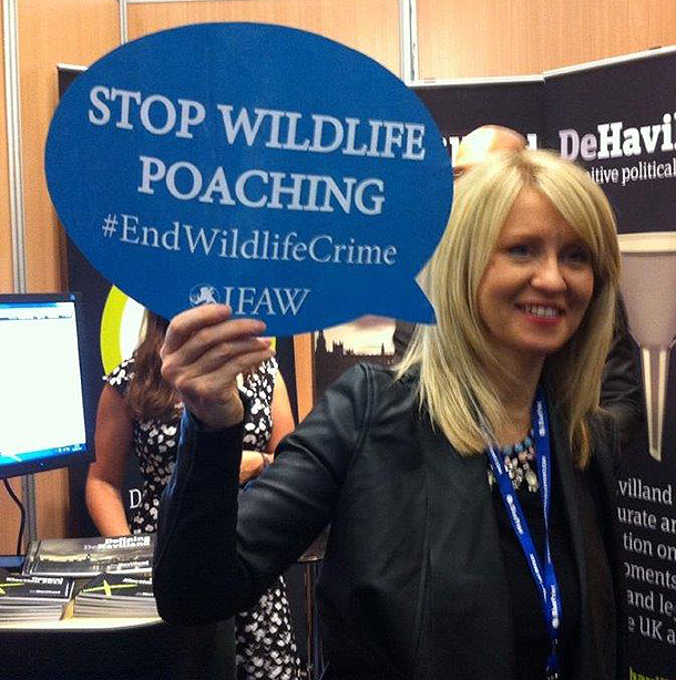 IFAW campaigns against the illegal wildlife trade at UK political conferences.