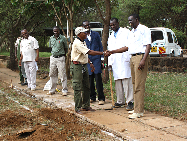 Spotlight Africa: breaking ground on new KWS building in Amboseli