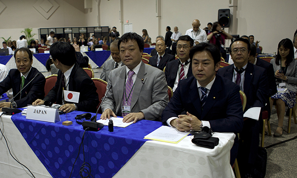 Japanese delegation at the 64th International Whaling Commission (IWC) in Panama