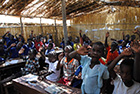 © IFAW-children in thatched classrooms at Nanthomba Full Primary School.