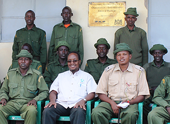 10 Amboseli Group Ranch Community Scout recruits head out for training with Keny