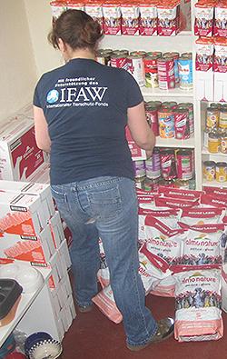 Almo Nature hat dem IFAW 2,5 Tonnen Hunde- und Katzenfutter gespendet, das wir an die Berliner Tiertafel weiterreichen.