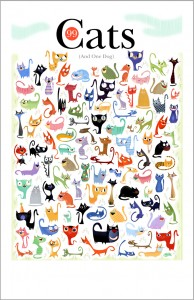 99 Cats and 1 Dog by Bob Staake.