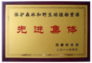 A rare honor from the State Forestry Department of China for the IFAW Beijing Raptor Rescue Center.