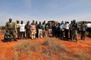 IFAW CEO Fred O'Regan with the Kenya Wildlife Service elephant collaring team.