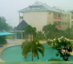 Hurricane Thomas rips into town...