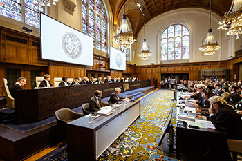Judges of the International Court of Justice at the opening of the hearings on Whaling in the Antarctic. UN Photo/ICJ-CIJ