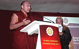 His Holiness the 17th Gyalwa Karmapa Ogyen Trinley Dorje c. IFAW/WTI/Paarth Nair