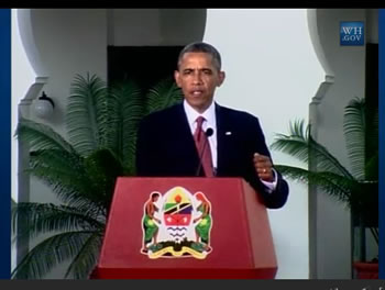 From a press conference in Dar El Salam, Tanzania, US President Barack Obama announced an Executive Order to help combat wildlife trafficking. Image source: WH.gov/LIVE