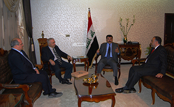 Members of the IFAW delegation, including the author (2nd from left), and the Iraqi Ministry of the Environment