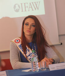 Miss France recently attended the IFAW CAIR event in France.