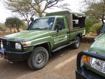 One of the IFAW donated Toyota Land Cruisers now in use by the Kenya Wildlife Service.