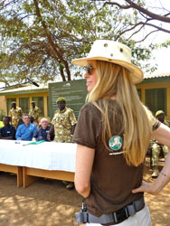 "IFAW supporter and ""True Blood"" star Kristin Bauer at the IFAW-KWS ceremony in Kenya."
