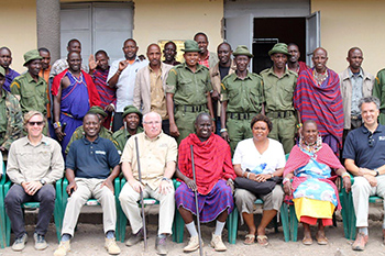IFAW team members, local Maasai Group Ranch Members of Amboseli including community game scouts