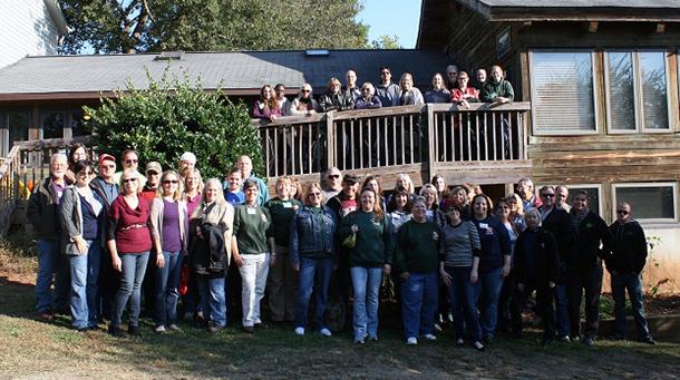 2013 Big Cat Workshop participants at Carolina Tiger Rescue.