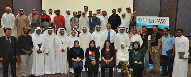 Recently, IFAW office in UAE joined Kuwaiti authorities to organize a four-day training workshop on prevention of wildlife trafficking for officials concerned with wildlife trade.