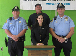 Members of the Philadelphia Police Department with Tim Harrison and the author.