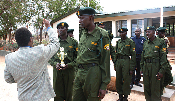 Graduates take part in the KWS LEA passing out parade.