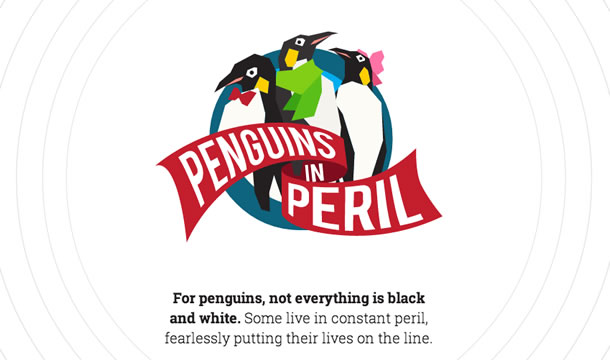 Percy the penguin's perilous story.