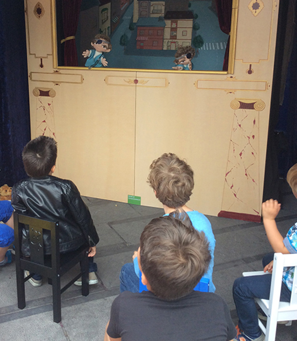 Children join in the fun during IFAW's puppet theater performance at the Animaux dans la Ville (Animals in the City) celebration in Ixelles on October 4, 2014.