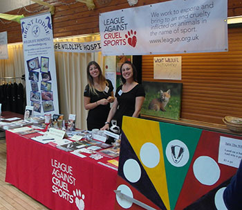 League Against Cruel Sports Stall, the organisers of the Isle of Wight Wildlife Day, which took place at the Riverside Centre in Newport.