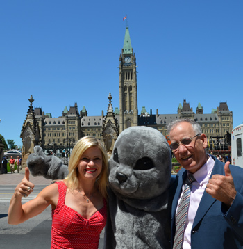 IFAW Director, Seal Program, Sheryl Fink, our own Sparky the seal and Sen. Mack Harb in Ottawa.