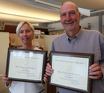 The author and Dr. Ian Robinson with the IFAW USDA Honor Awards.