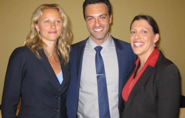 Reid Scott of HBO's VEEP with IFAW's Marine Campaigns Officer, Margaret Cooney (Right), and Oceana's Ocean Advocate, Nancy Sopko (Left).